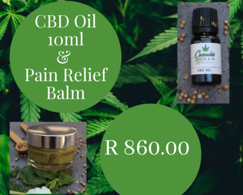 CBD Oil 10ml & Pain Relief Balm