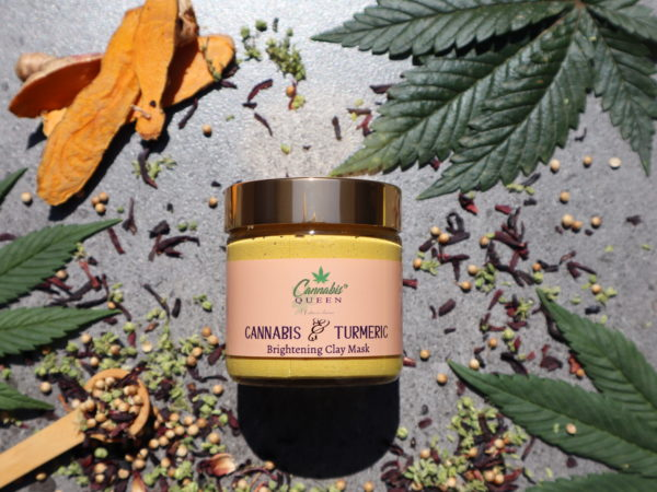 Turmeric & Cannabis Brightening Clay Mask