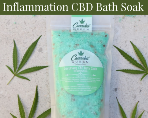 Luxurious Inflammation CBD Bath Soak.