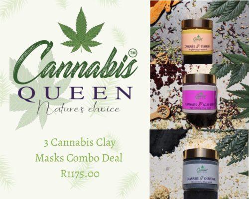 3 cannabis clay masks combo deal